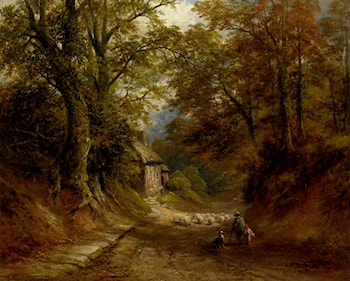 The Old Cottage, Littleover Lane by George Turner