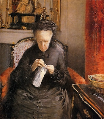 Portait of Madame Martial Caillebote (the artist's mother) by Gustave Caillebotte