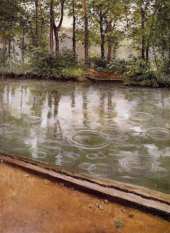 The Yerres, Rain by Gustave Caillebotte
