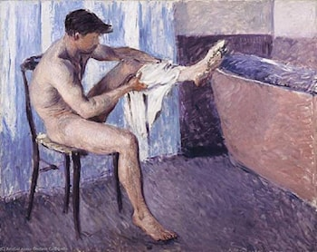 Man Dries His Leg by Gustave Caillebotte