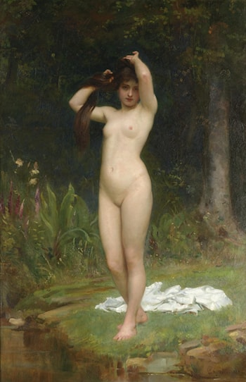 A Woodland Nymph by Philip Hermogenes Calderon
