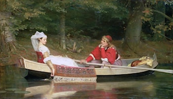 With the River by Philip Hermogenes Calderon