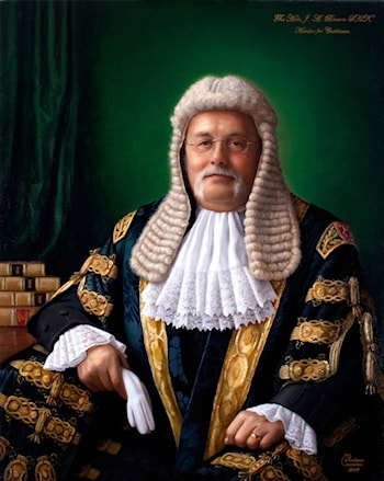 Speaker Tony Brown Parliament of the Isle of Man by Svetlana Cameron