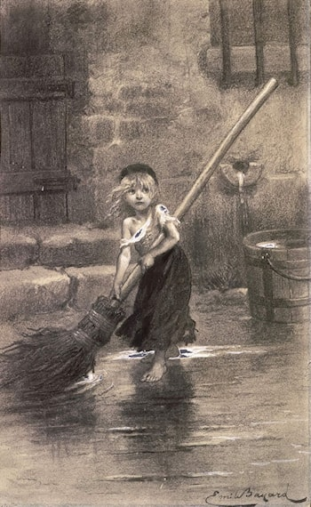 "Illustration of Cosette from ""Les Misérables"" by Victor Hugo by Emile-Antoine Bayard"