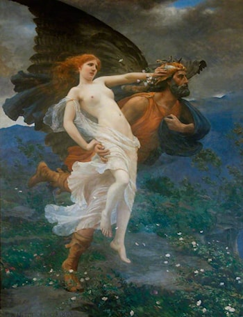 The Flight of Boreas with Oreithyia by Charles William Mitchell