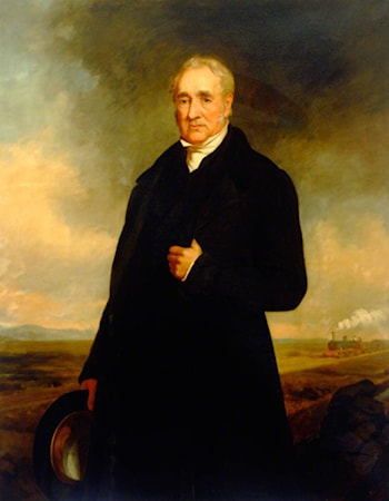 George Stephenson (1781–1848) by Charles William Mitchell