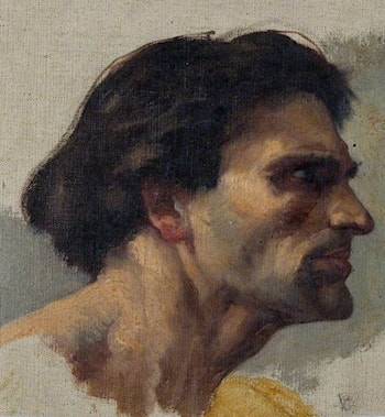 Study of a Head by Charles William Mitchell