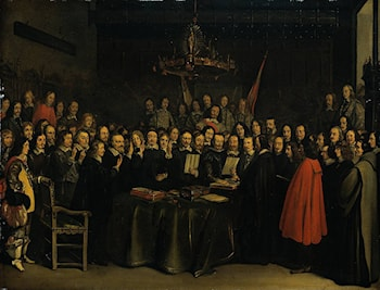 The Ratification of the Treaty of Münster, 15 May 1648 by Gerard ter Borch