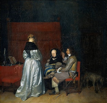 Gallant Conversation; known as The Paternal Admonition' by Gerard ter Borch