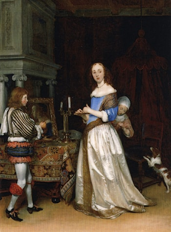 A Lady at Her Toilet by Gerard ter Borch
