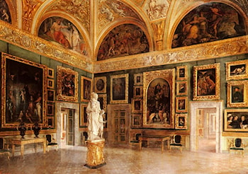 The Interior Of The Pitti Palace by S. Corsi