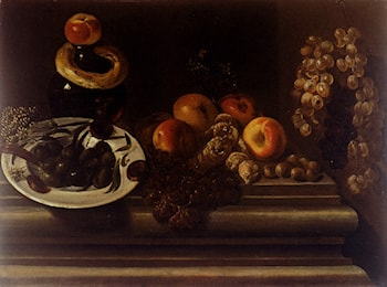 Still Life Of Fruits And A Plate Of Olives by Juan Bautista De Espinosa