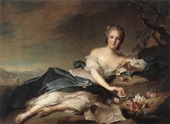 Marie Adelaide of France as Flora by Jean-Marc Nattier