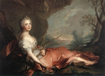Marie Adelaide of France as Diana by Jean-Marc Nattier