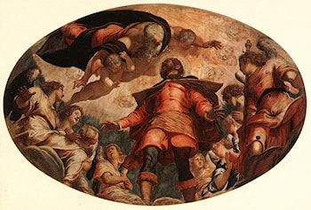 Glorification of St Roch by Jacopo Robusti Tintoretto