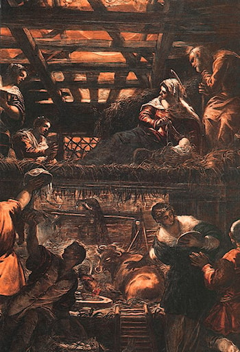 The Adoration of the Shepherds by Jacopo Robusti Tintoretto