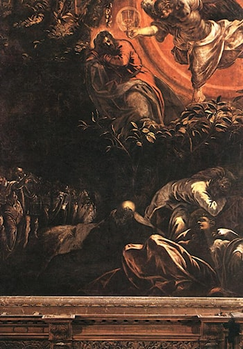 The Prayer in the Garden by Jacopo Robusti Tintoretto