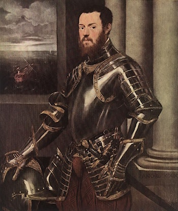 Man in Armour by Jacopo Robusti Tintoretto