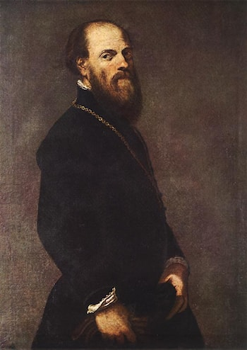 Man with a Golden Lace by Jacopo Robusti Tintoretto