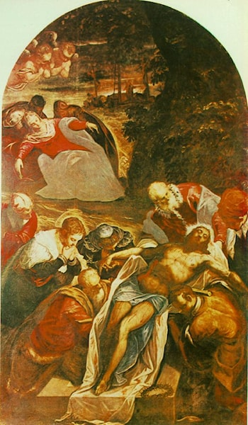 Entombment by Jacopo Robusti Tintoretto