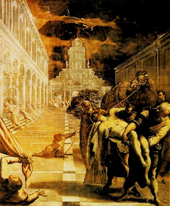The Stealing of the dead body of St Mark by Jacopo Robusti Tintoretto