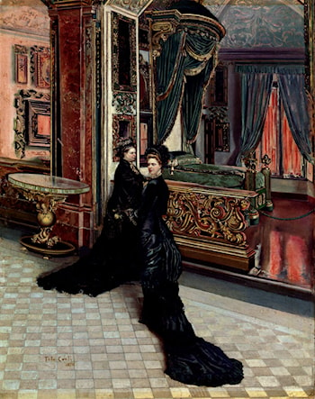 Queen Victoria And Princess Royal Visit Napolean's Boudoir by Ettore Tito