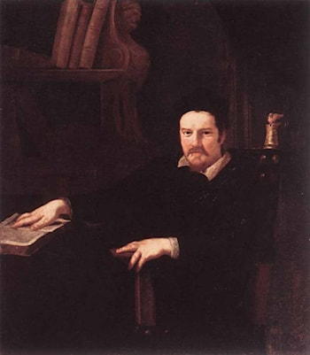 Portrait of Monsignor Clemente Merlini by Andrea Sacchi