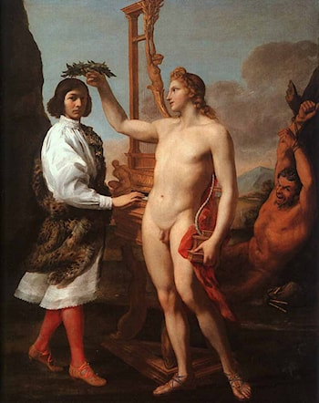 Marcantonio Pasquilini Crowned by Apollo by Andrea Sacchi