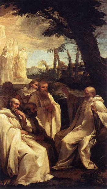 The Vision of St Romuald by Andrea Sacchi