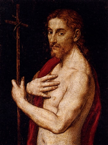 Saint John The Baptist by Giovanni Francesco Caroto