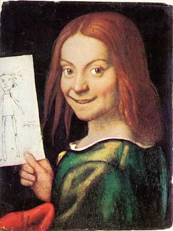 Read­headed Youth Holding a Drawing by Giovanni Francesco Caroto