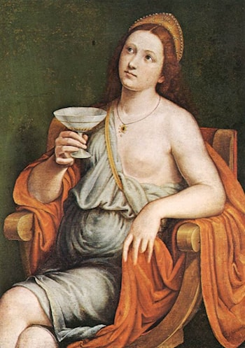 Sophonisba Drinking the Poison by Giovanni Francesco Caroto