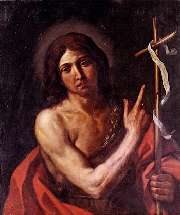 Saint John The Baptist by Giovanni Francesco Barbieri