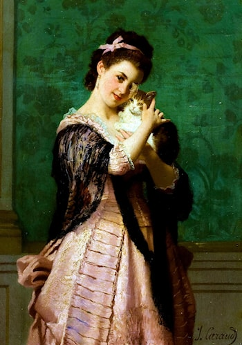 Woman with a Cat by Joseph Caraud
