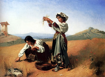The Gleaners by Anton Romako