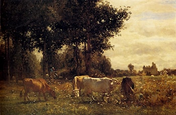 Cows Grazing by Constant Troyon