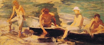 The Rowing Party by Henry Scott Tuke