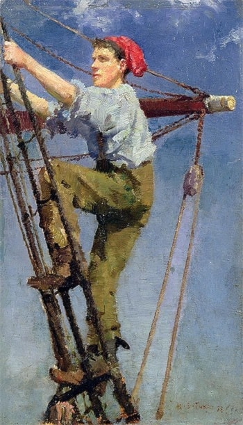 Going Aloft by Henry Scott Tuke