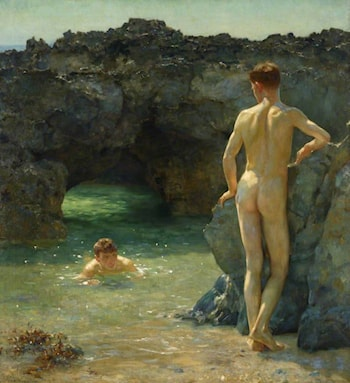 The Green Waterways by Henry Scott Tuke