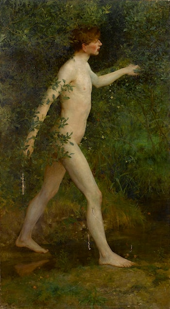 A Woodland Bather by Henry Scott Tuke