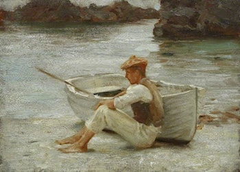 Boy and Boat by Henry Scott Tuke