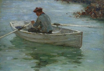 Boy in a Dinghy by Henry Scott Tuke