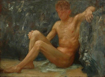 Bather Seated by Henry Scott Tuke