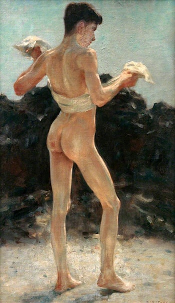 After the Bathe by Henry Scott Tuke