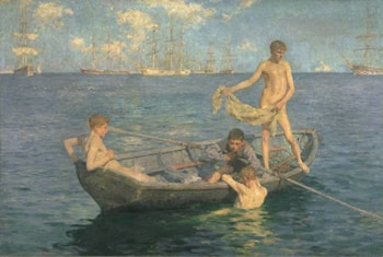 August Blue by Henry Scott Tuke