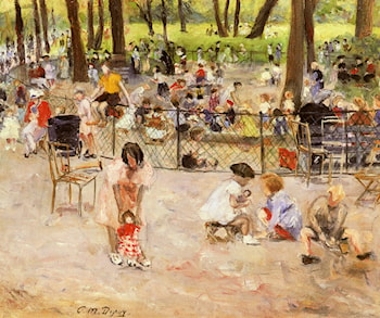 Le Parc Monceau A Paris by Paul Michel Dupuy