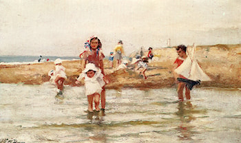 At The Seashore by Paul Michel Dupuy