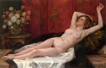 Reclining Nude by Paul Michel Dupuy