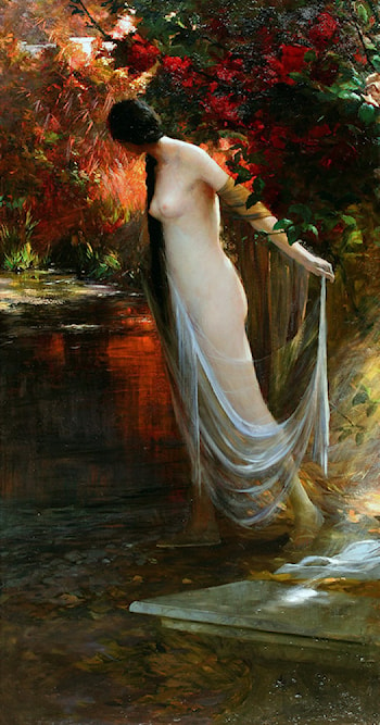 Ophelia at the River's Edge by Carlos Ewerbeck