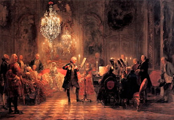 Frederick the Great Playing the Flute at Sanssouci by Adolph von Menzel